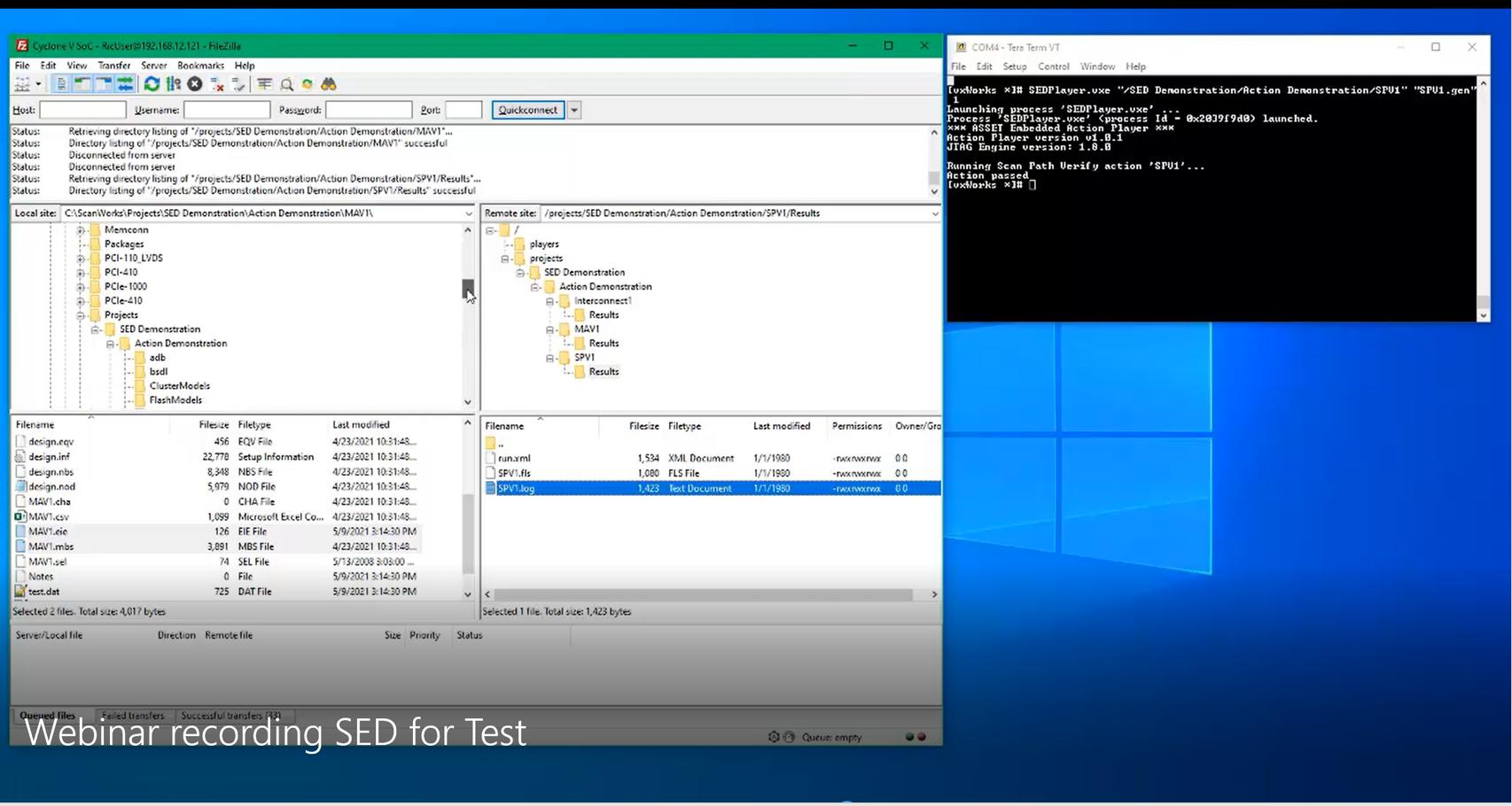 Embedded boundary scan test demo