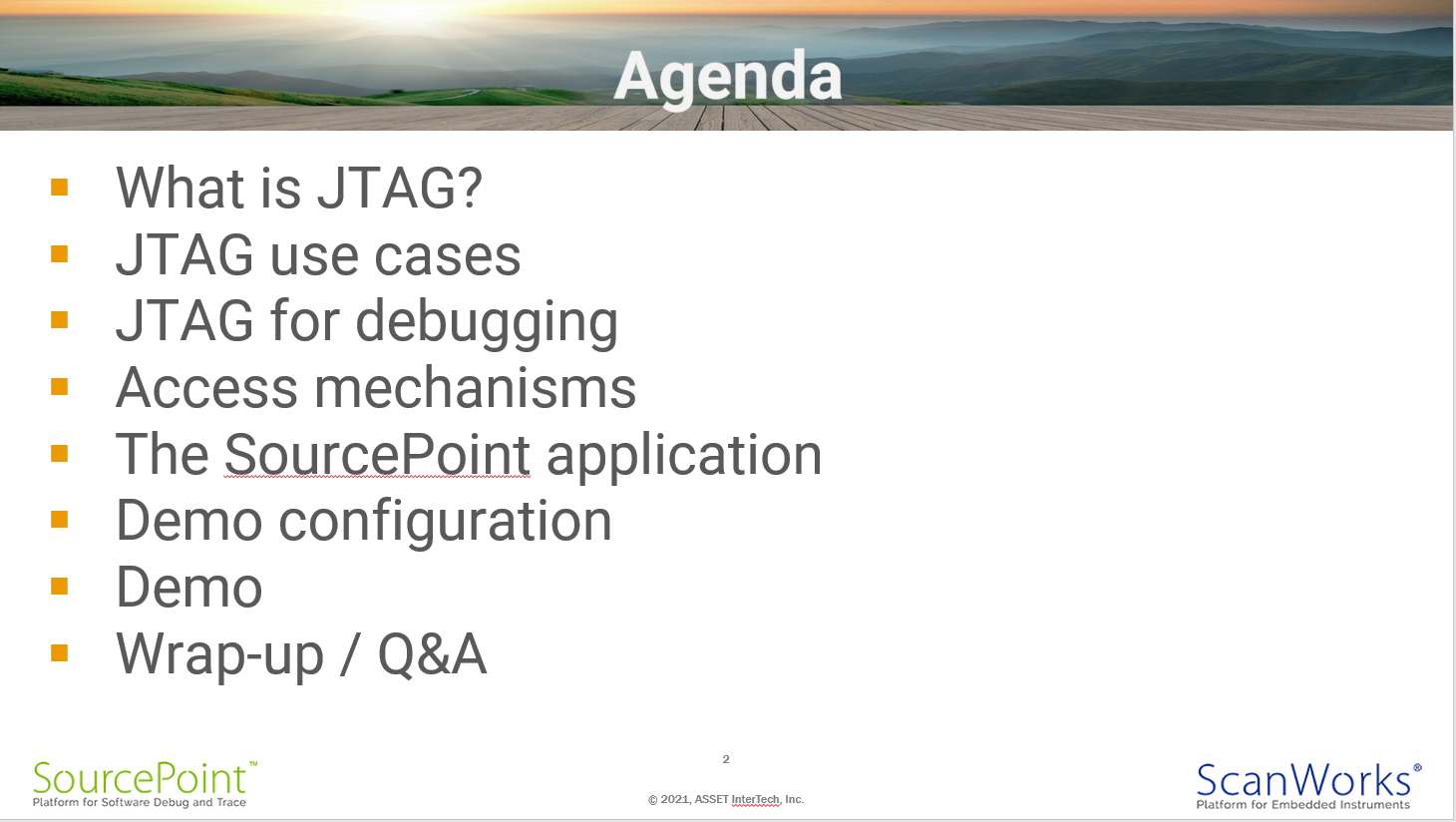 Agenda for SourcePoint AMD webinar
