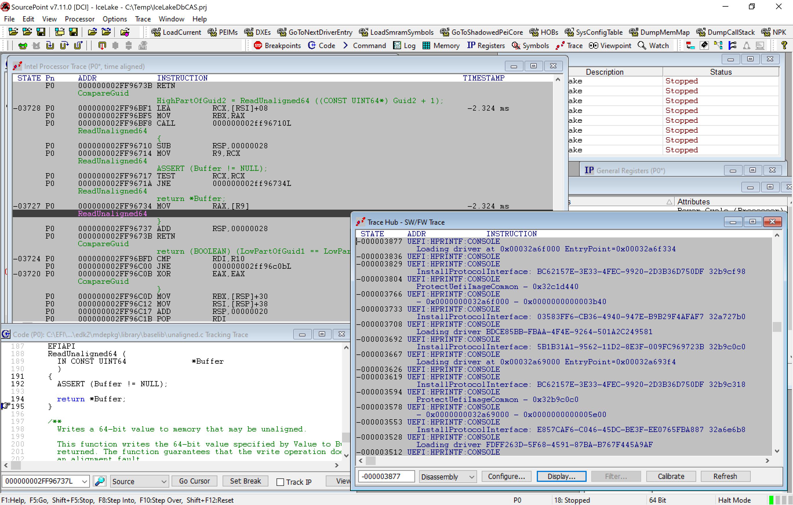 Trace Hub and Processor Trace